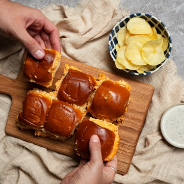 Simple Addicting Buffalo Chicken Dip Sliders Recipe | SideChef