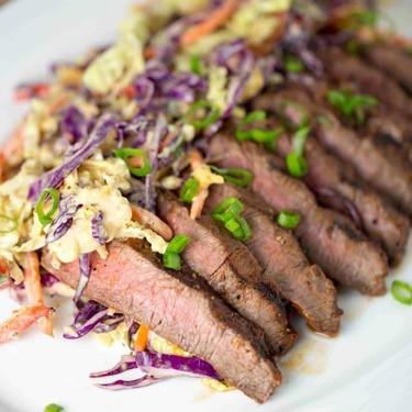 Family Style Marinated Grilled Flat Iron Steak Recipe | SideChef