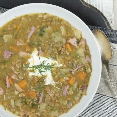 Slow Cooker Lentil and Ham Soup Recipe   SideChef