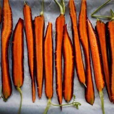 Purple Carrots With Garlic Tahini & Carrot Top Oil Recipe   SideChef