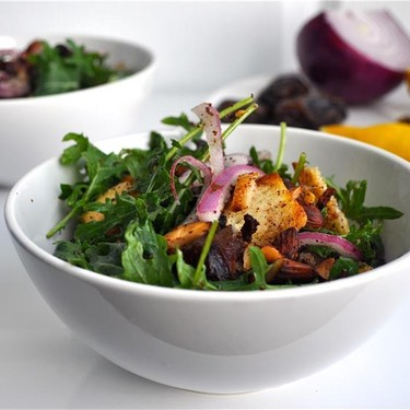 Kale Salad with Dates and Sumac Almonds Recipe   SideChef