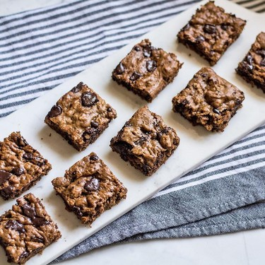 Flourless Chocolate Peanut Butter and Oat Bars Recipe   SideChef