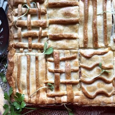 Ham and Cheese Slab Pie Recipe   SideChef