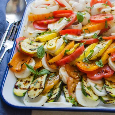Grilled Vegetable Tomato Mozzarella Caprese Recipe | SideChef