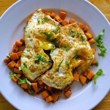 Fried Egg Sweet Potato Hash Recipe   SideChef