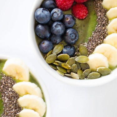 Two-Toned Kale Smoothie Bowl Recipe   SideChef