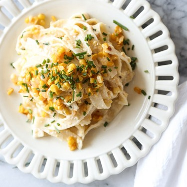 Sweet and Spicy Corn Pasta with Ricotta and Chives Recipe | SideChef