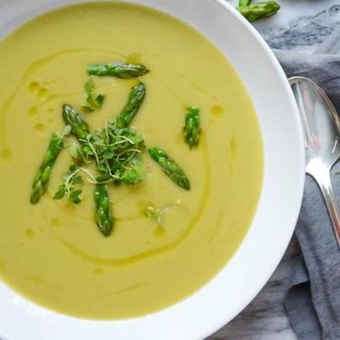 Creamy Asparagus Sunchoke Soup Recipe | SideChef