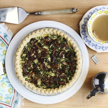Mushroom, Broccolini, and Jack Cheese Custard Tart Recipe   SideChef