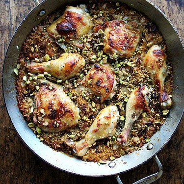 Moroccan-Spiced Chicken and Rice with Dates and Pistachios Recipe | SideChef