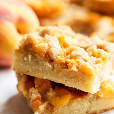 Peach Crumb Bars Recipe | SideChef
