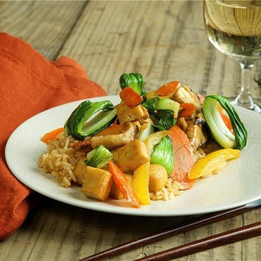 Stir-Fried Shiitake Mushrooms with Tofu Recipe | SideChef