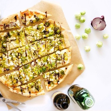Beer Caramelized Onion Brussel Sprout Pizza Recipe   SideChef
