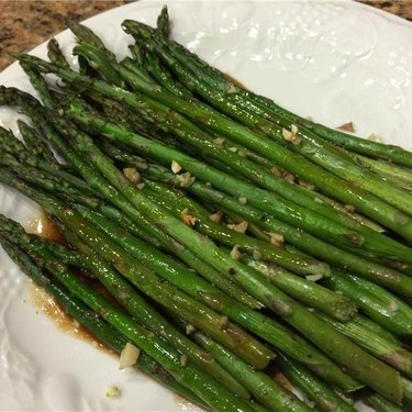 Baked Asparagus with Balsamic Butter Sauce Recipe | SideChef