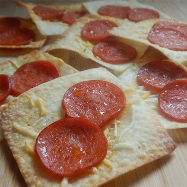 Pizza Wonton Crisps Recipe   SideChef