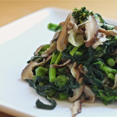 Sautéed Shiitake and Broccoli Rabe Recipe   SideChef