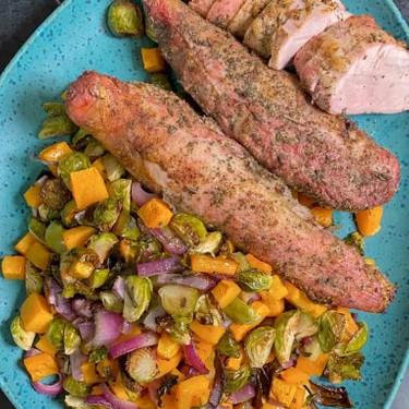 Roast Pork Tenderloin with Fall Vegetables Recipe   SideChef