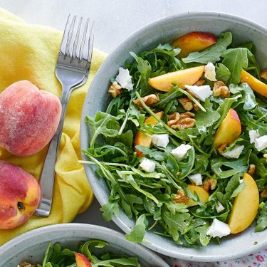 Peach Arugula Salad Recipe | SideChef