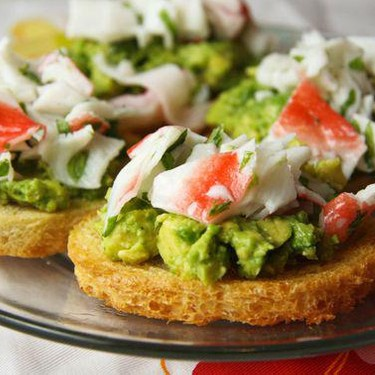 Crab and Avocado Toast Recipe   SideChef