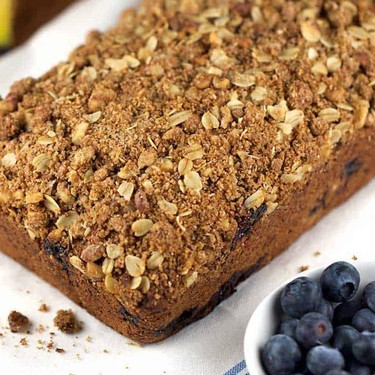 Whole Wheat Vegan Blueberry Banana Bread with Oat Crumble Recipe | SideChef