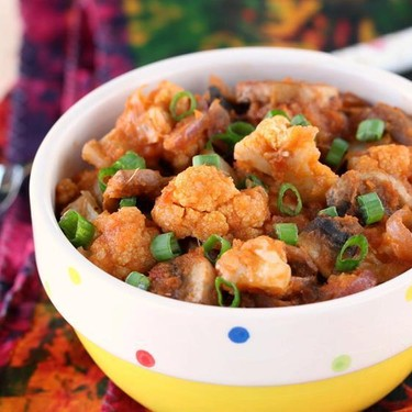 Cauliflower Mushroom Curry Recipe | SideChef