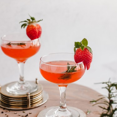 Strawberry Gimlet with Rosemary Peppercorn Simple Syrup Recipe   SideChef