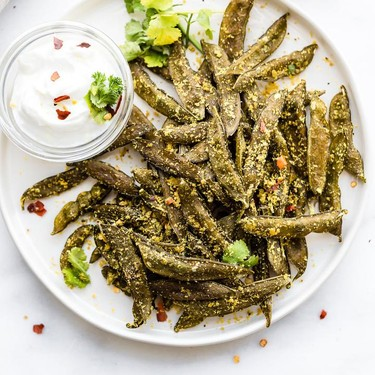 Homemade Snap Pea Chips Recipe   SideChef