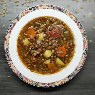 Lentils with Chorizo Recipe | SideChef