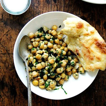 Chickpea Sauté With Basil and Pine Nuts Recipe   SideChef