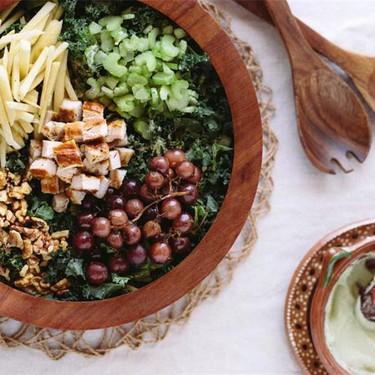 Kale Waldorf Chicken Salad & Cashew Avocado 'Mayo' Recipe | SideChef
