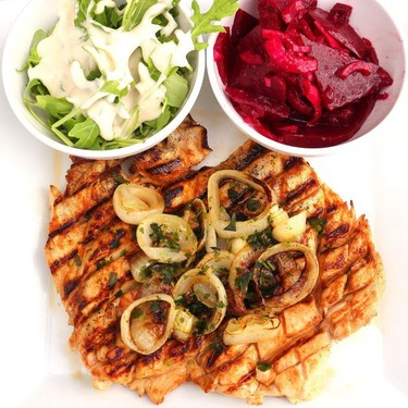 Grilled Chicken Breast with Sautéed Onion Recipe | SideChef