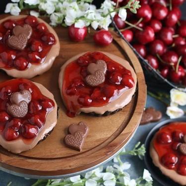 Black Forest Chocolate Cheesecake Tarts Recipe   SideChef