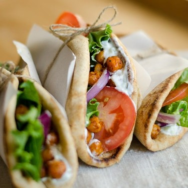 Roasted Chickpea Gyros Recipe | SideChef