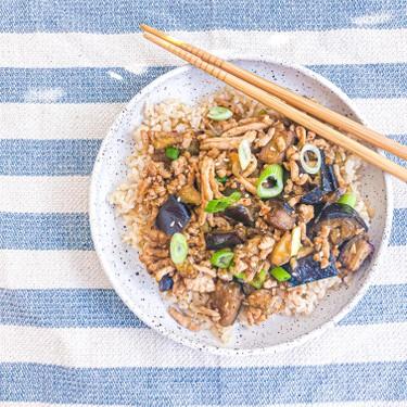 Chinese Ground Chicken and Roasted Eggplant Stir-Fry Recipe   SideChef