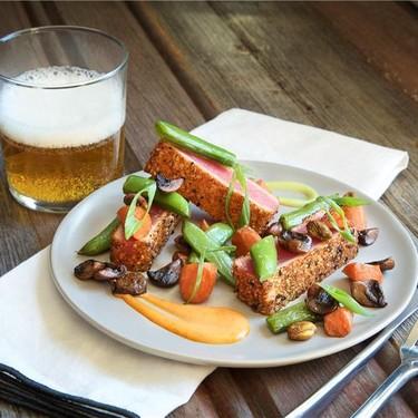 Togarashi Seared Ahi Tuna with Hoisin Vegetables Recipe   SideChef