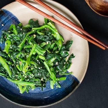 Korean Style Sesame Spinach Salad (Sigeumchi Namul) Recipe | SideChef