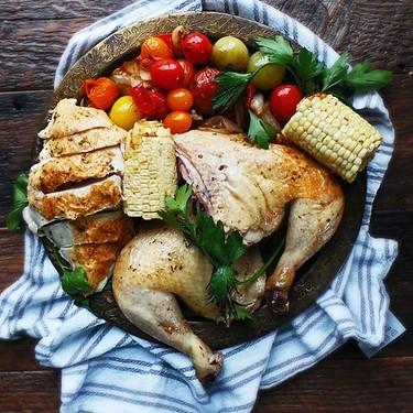 Whole Roast Summer Chicken Recipe   SideChef