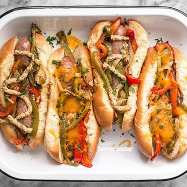Roasted Bratwurst With Peppers And Onions Recipe   SideChef