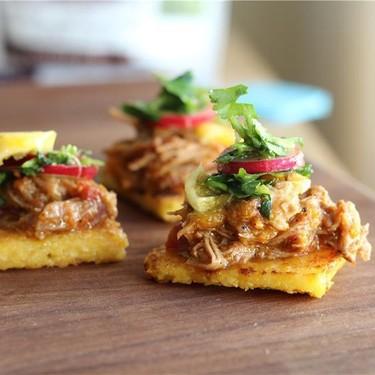 Crispy Polenta Bites with Braised Pork & Citrus Recipe   SideChef