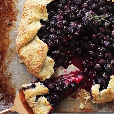 Blueberry Lavender Buttermilk Galette Recipe | SideChef
