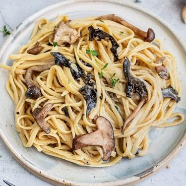 Vegan Wild Mushrooms Pasta with Truffle Oil Recipe   SideChef