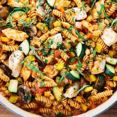 Easy One Pot Chicken Cacciatore Pasta Recipe   SideChef