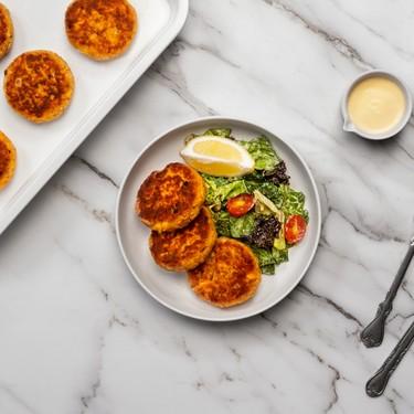 Salmon Cake with Garden Salad Recipe | SideChef