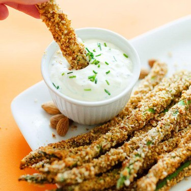Parmesan and Almond Baked Asparagus Fries Recipe   SideChef