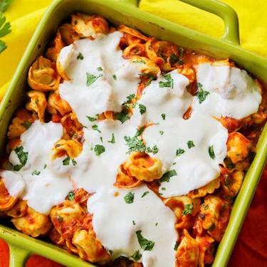 Easy Cheesy Tortellini Bake Recipe   SideChef