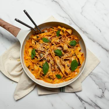 3-Ingredient Fresh Pasta with Cheesy Pumpkin Alfredo Recipe   SideChef