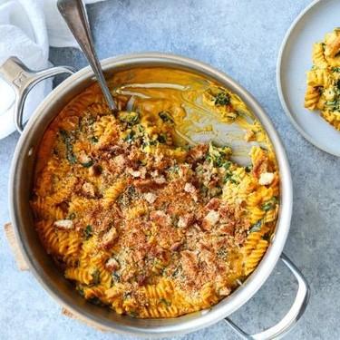 Vegan Pumpkin Mac and Cheese with Kale Recipe | SideChef