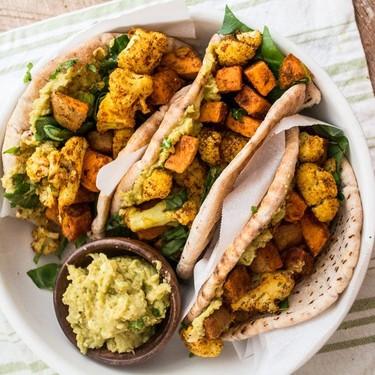 Sweet Potato and Cauliflower Curry Wraps Recipe | SideChef