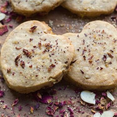 Rosewater Almond Shortbread Recipe | SideChef