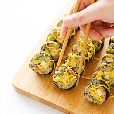 Coconut Tempura Tofu Sushi with Quinoa Rice Recipe | SideChef